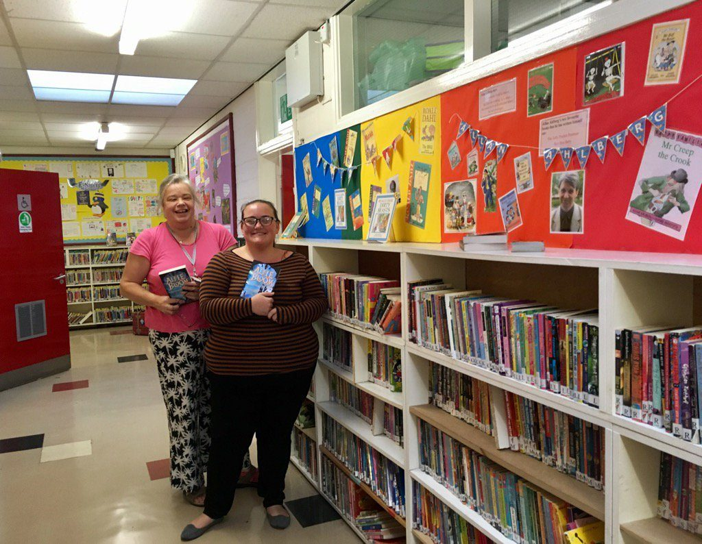 The fabulous library at Our Lady and St Anne's RC Primary School in Newcastle.